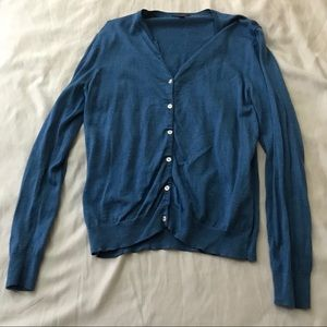 Brooks Brothers Blue Cardigan